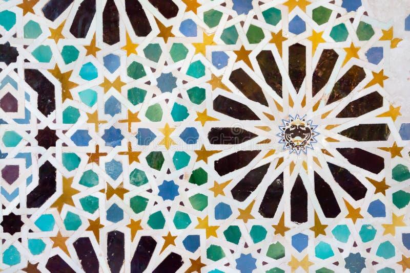 Mozaïek in Alhambra, Granada stock afbeeldingen