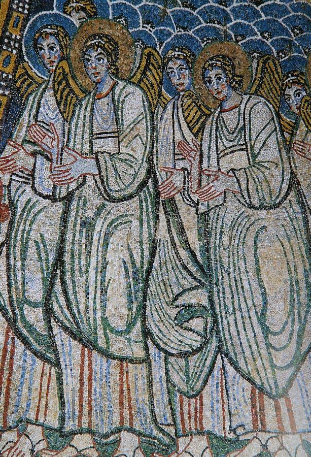 Mozaïek in Basiliek Santa Maria Maggiore, Rome, Italië royalty-vrije stock afbeeldingen