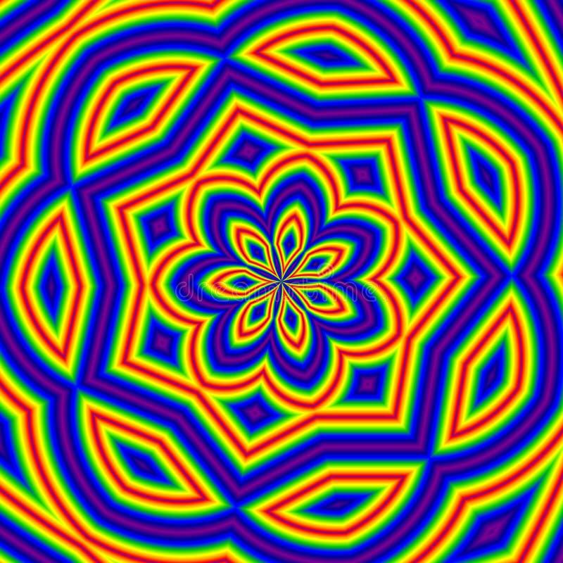 Mozaïek bloemrijke achtergrond in gele tinten stock illustratie