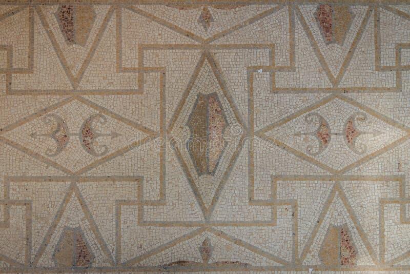 Mozaïek in de ruïnes van de Roman villa in de oude stad van Lilibeo stock foto