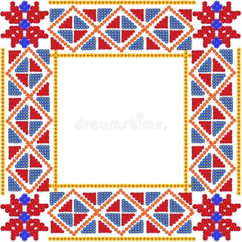 Mozaïek eenvoudig rood kader royalty-vrije stock afbeelding