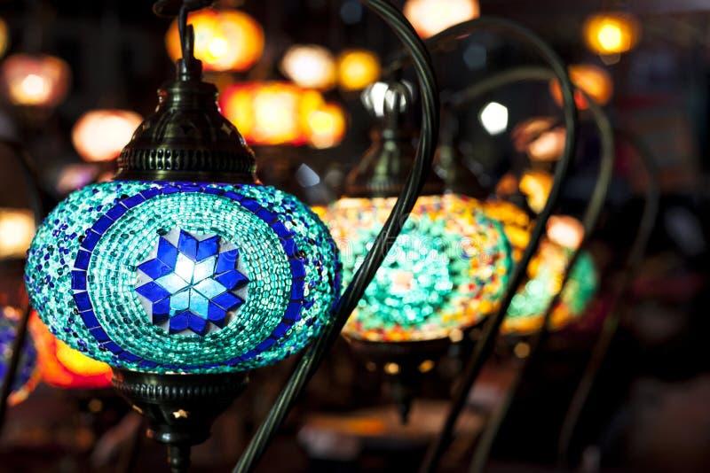 Mozaïek hangende lampen stock afbeeldingen