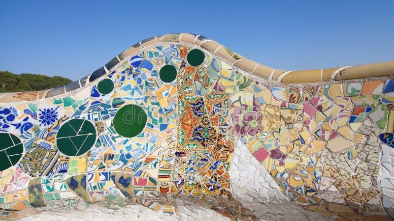 Mozaïek in Park Guell royalty-vrije stock afbeeldingen