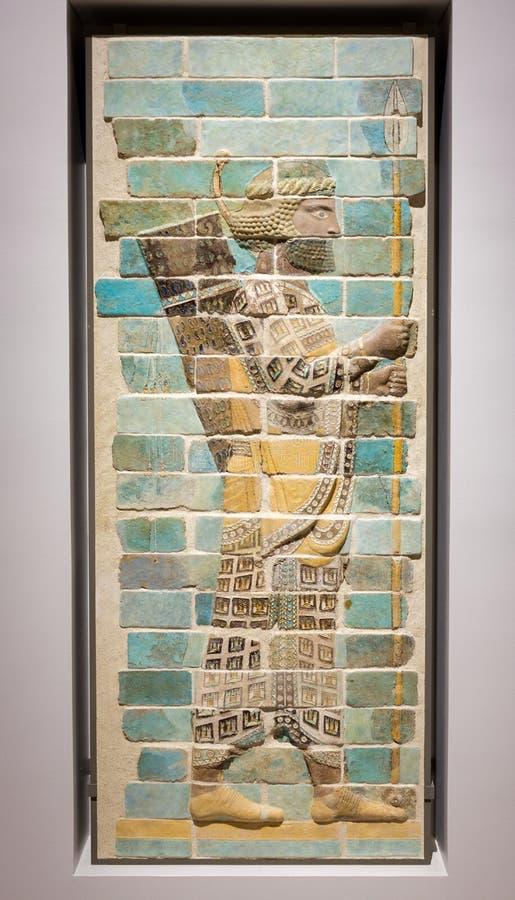 Mozaïek van een mannetje bij Louvrelens, Frankrijk royalty-vrije stock afbeelding