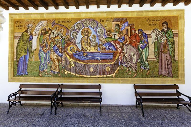 Mozaïek van Kykkos Klooster, Cyprus stock afbeeldingen