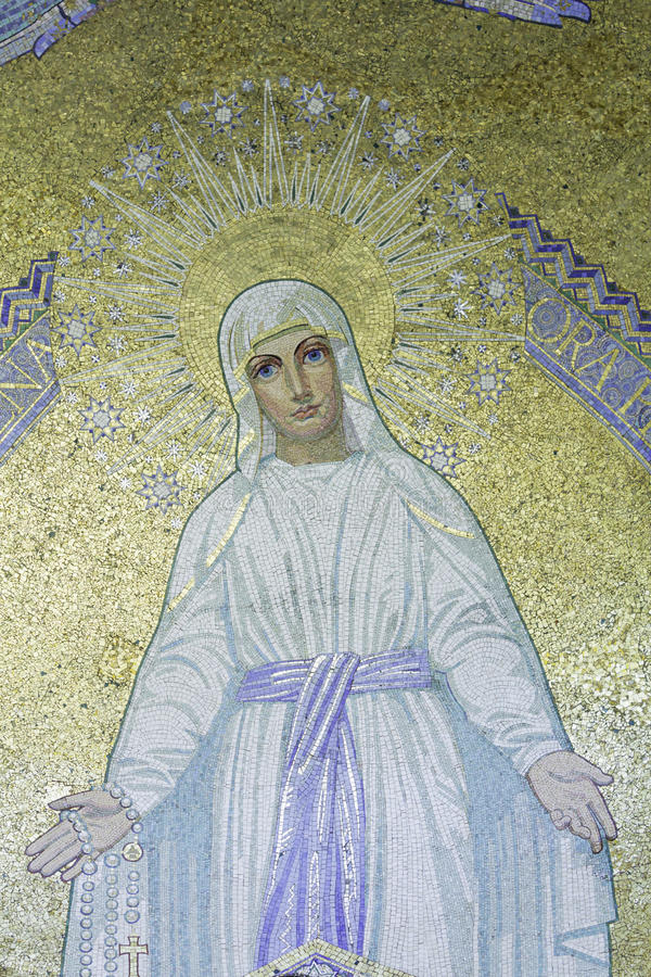 Mozaïek van Maagdelijke Mary stock foto