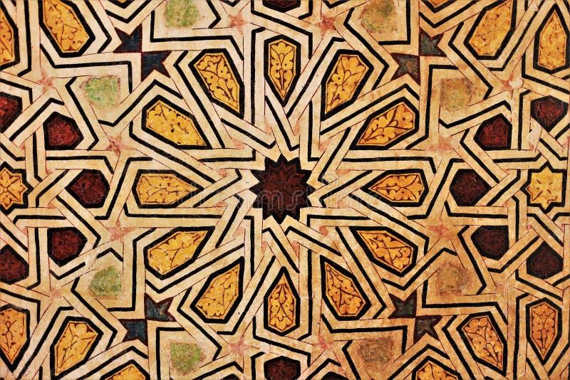 Mozaïeken op de muur worden geschilderd die royalty-vrije stock foto