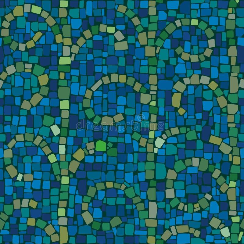 Mozaïekpatroon in koude kleuren royalty-vrije stock foto's