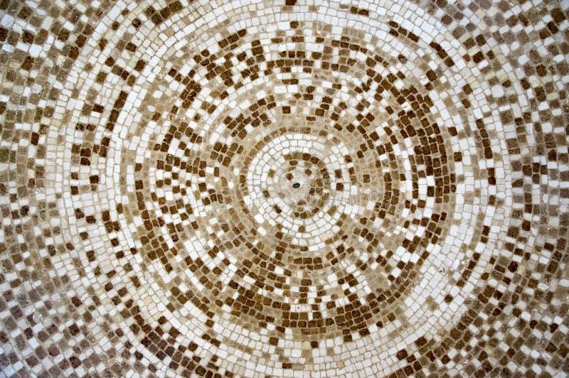 Mozaïekplafond, witte en bruine kleurenschaduwen royalty-vrije stock foto's