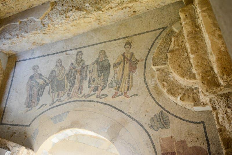 Mozaïekvloer van Roman villa stock foto