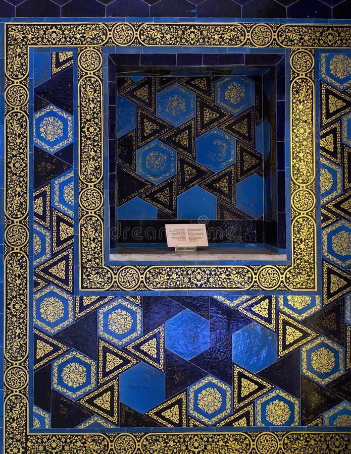 Mozaik płytek ściany Kafelkowy kiosk zdjęcie stock