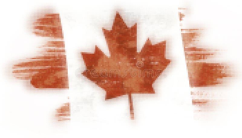 Mozaik płytek kierowy malować kanadyjczyk flaga royalty ilustracja