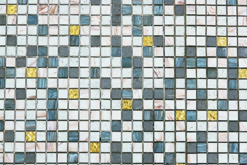 Mozaik płytek wzór bezszwowy dla dekoracji zdjęcie stock