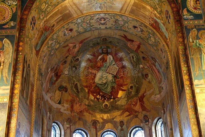 Mozaika ścienny obraz kościół wybawiciel na krwi zdjęcia royalty free