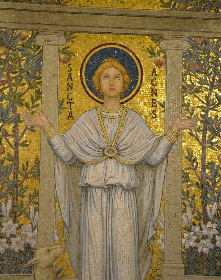 Mozaika święty Agnes zdjęcia stock