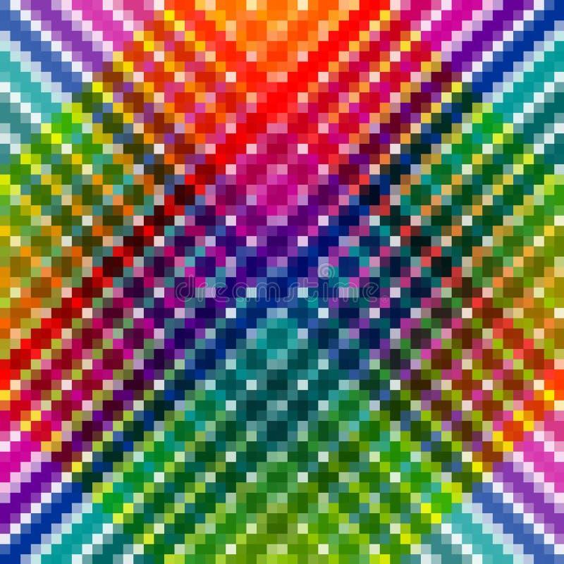 Mozaika abstrakcjonistyczny kolorowy wzór ilustracja wektor