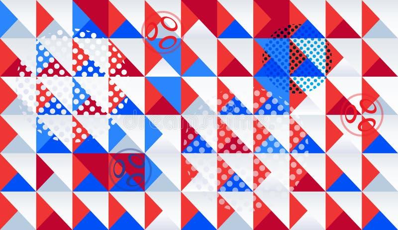 Mozaika abstrakcjonistycznych dynamicznych kształtów geometryczny wzór ilustracji