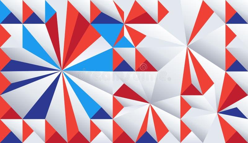 Mozaika abstrakcjonistycznych dynamicznych kształtów geometryczny wzór ilustracja wektor