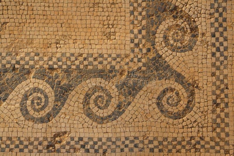 Mozaika czerep w ruinach antyczny miasto Morgantina obraz royalty free