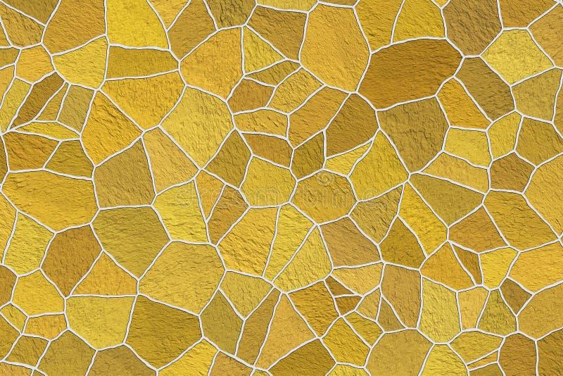 Mozaika dekoracyjnych kamieni tło Łazienki i kuchni wnętrze Abstrakcjonistyczny ornamentacyjny wzór ilustracji