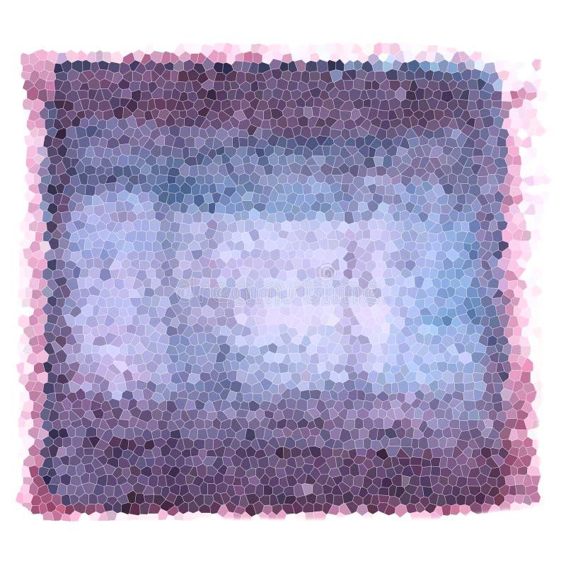 Mozaika gradient - textured tło purpurowi i błękit kolory royalty ilustracja