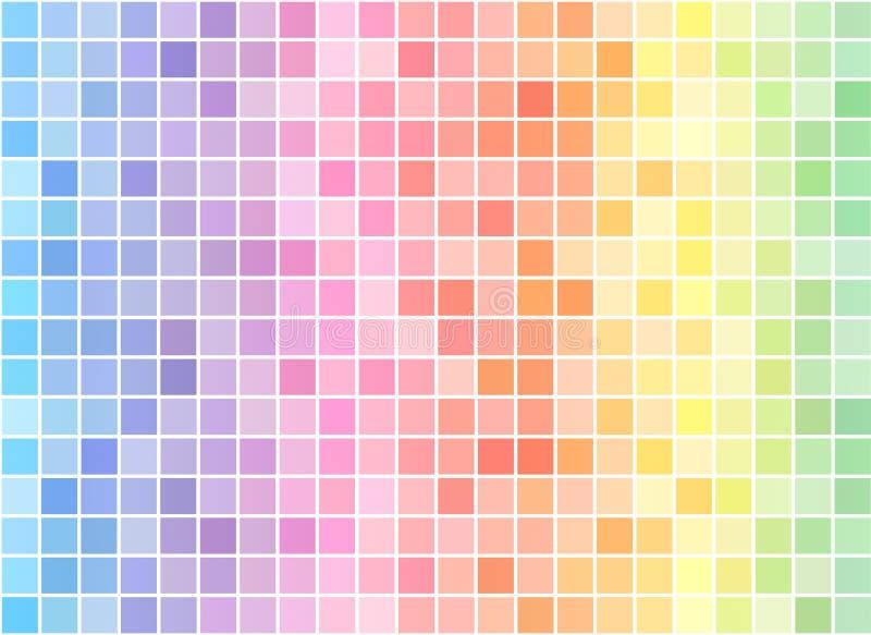 Mozaika koloru wielo- tło ilustracja wektor