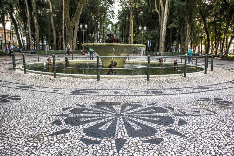 Mozaika robić z portuguese kamieniami w bruku generała osà ³ Rio kwadrat fotografia royalty free
