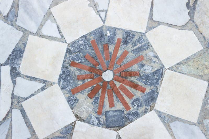 Mozaika, stylizowany słońce Grecja Tło struktura fotografia stock