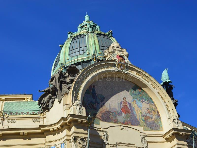 Mozaika szczegół na sztuki Nouveau piękna Praga republika czech obrazy royalty free