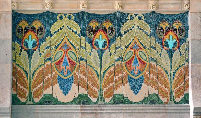 Mozaika w Barcelona, Hiszpania zdjęcie stock