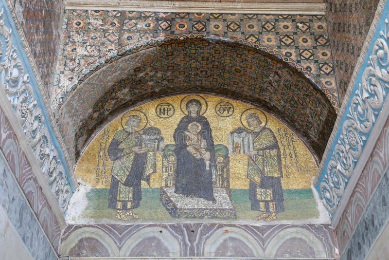 Mozaika w Hagia Sophia zdjęcia stock
