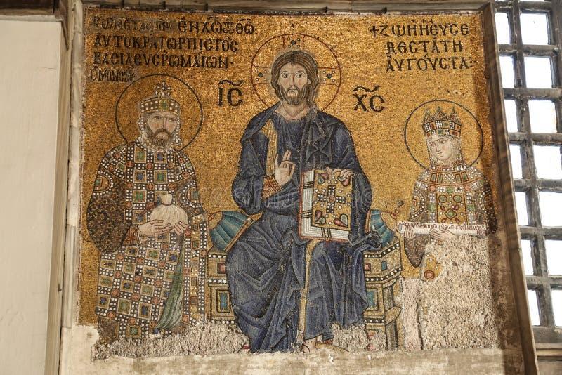 Mozaika w Hagia Sophia muzeum, Istanbuł zdjęcie stock