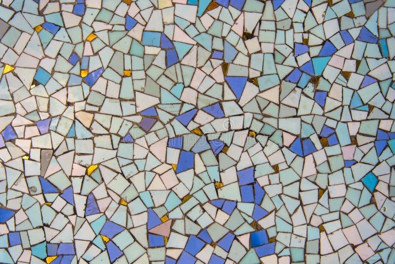 Mozaika wzoru błękitny turkusowy złoto obrazy stock