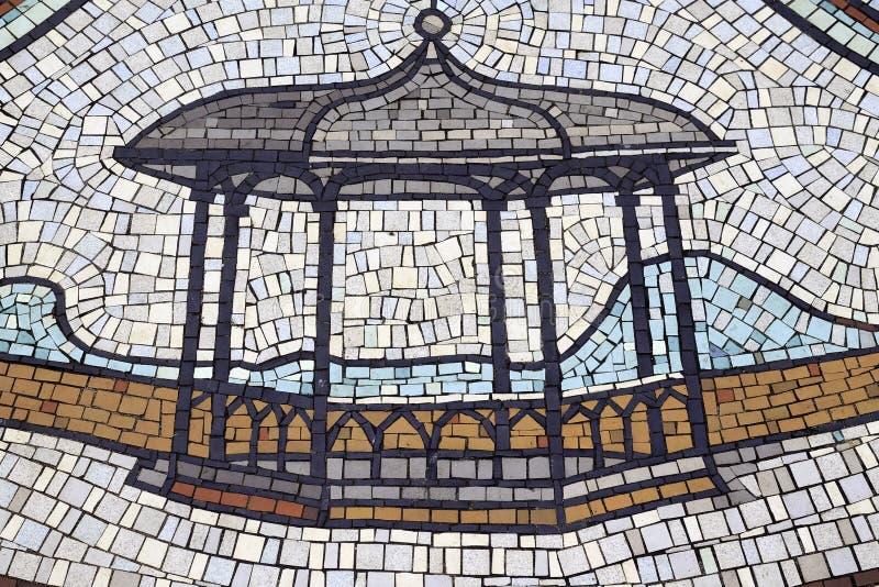 Mozaika wzoru Bandstand zdjęcie stock