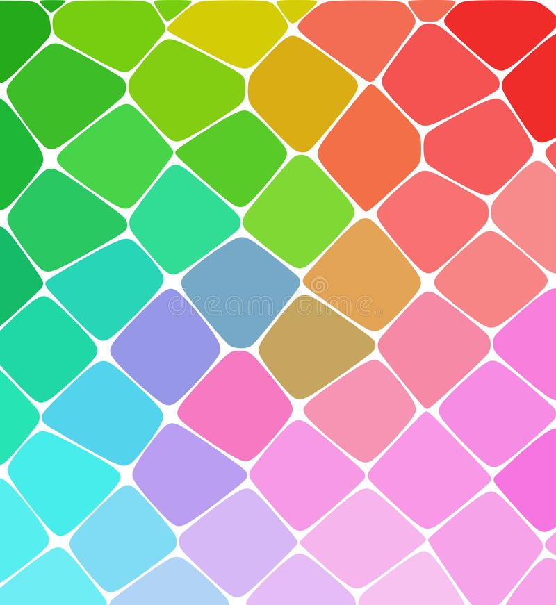 Mozaika wzoru tło Jaskrawe kolorowe płytki z białą przerwy teksturą royalty ilustracja