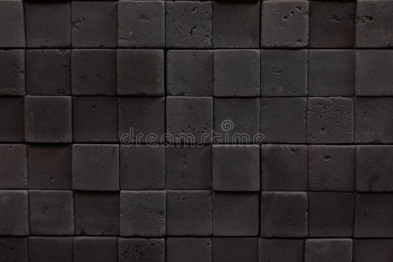 Mozaika zmroku kwadrata kamienie w górę, wewnętrzna dekoracja w stylu loft, beton zdjęcie stock