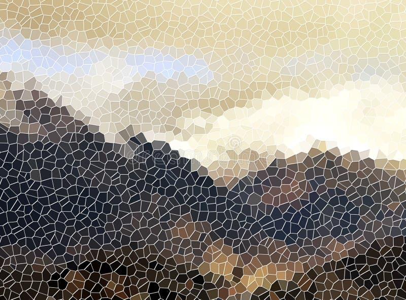 Mozaiki beewax beżowy miękki abstrakcjonistyczny tło ilustracja wektor