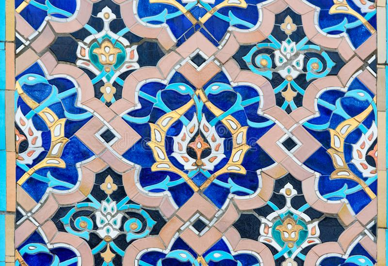 Mozaiki dekoracja świętego Petersburg meczet Rosja obrazy stock