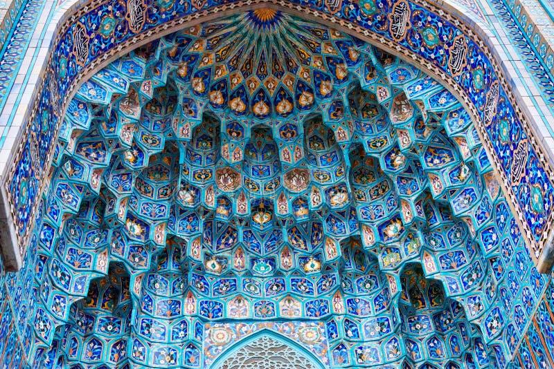 Mozaiki dekoracja wejście świętego Petersburg meczet Rosja obrazy royalty free