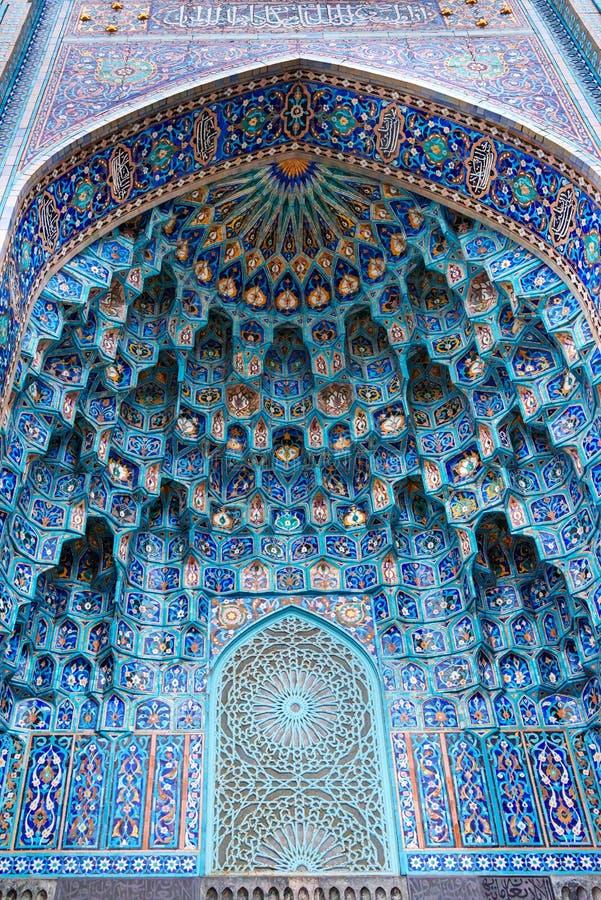 Mozaiki dekoracja wejście świętego Petersburg meczet Rosja zdjęcie stock
