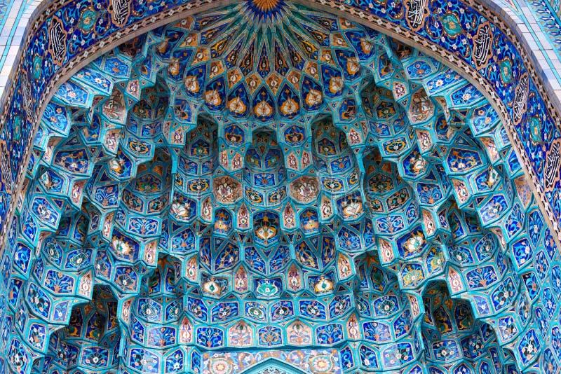 Mozaiki dekoracja wejście świętego Petersburg meczet Rosja obrazy stock
