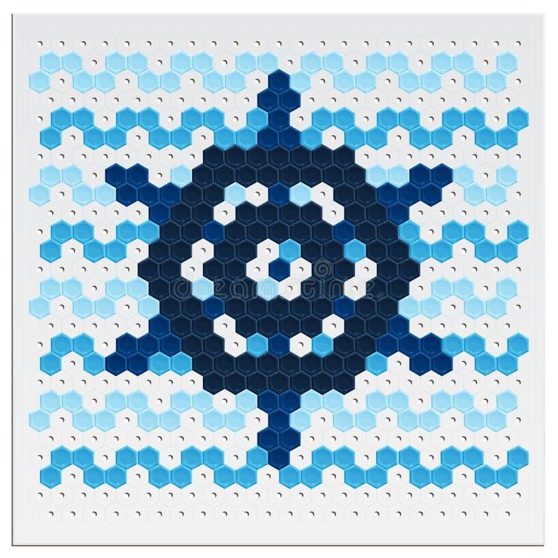 Mozaiki koło ilustracja wektor