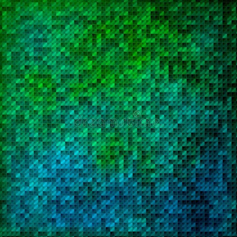 mozaiki niebieskiej zielone royalty ilustracja