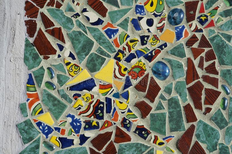 Mozaiki płytki Up zakończenie fotografia royalty free