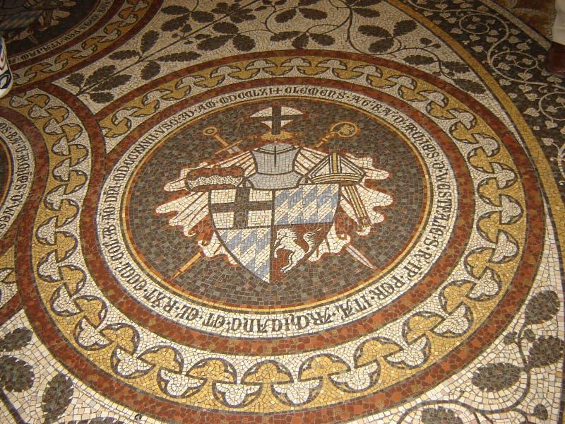 Mozaiki podłoga w Kolońskiej katedrze zdjęcia stock