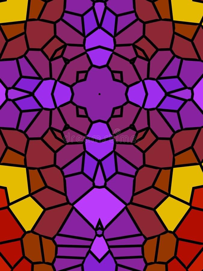 mozaiki przecinające purpurowy royalty ilustracja