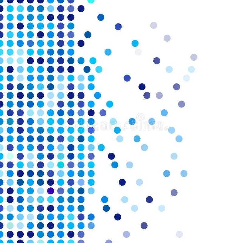 Mozaiki tła przypadkowy zmrok i bławi okręgi, wektoru polek kropki wzór, neutralny wszechstronny wzór dla biznesowego techno ilustracji