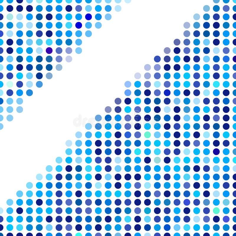 Mozaiki tła przypadkowy zmrok i bławi okręgi, wektoru polek kropki wzór, neutralny wszechstronny wzór dla biznesowego techno royalty ilustracja