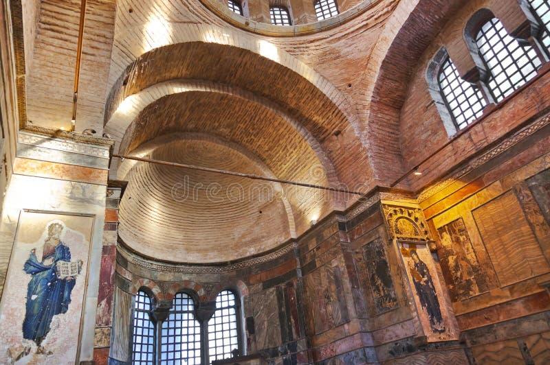 Mozaiki wnętrze w Chora kościół przy Istanbuł Turcja zdjęcia royalty free
