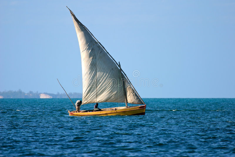 Mozambican dhow royalty free stock photo